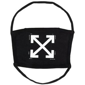 Off-White 100% cotton face mask crossed arrows